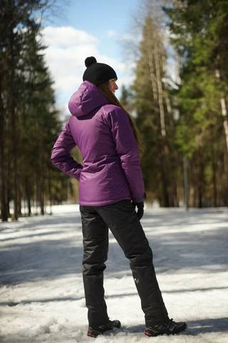 Nordski Kids Motion детский утепленный лыжный костюм purple-black