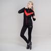 Утепленный беговой костюм женский Nordski Base black-red - 1