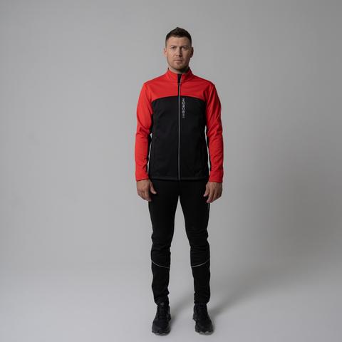 Nordski Active лыжный костюм мужской черный-красный