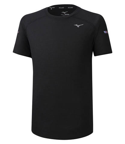 Mizuno Dryaeroflow Tee беговая футболка мужская черная