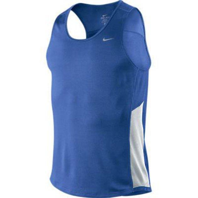 Майка л/а Nike Miler Singlet сине-белая