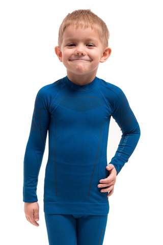 Brubeck Thermo детская терморубашка blue