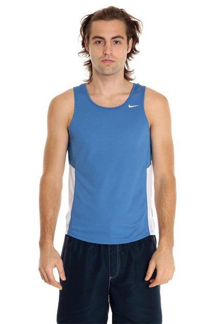 Майка л/а Nike Miler Singlet сине-белая - 2