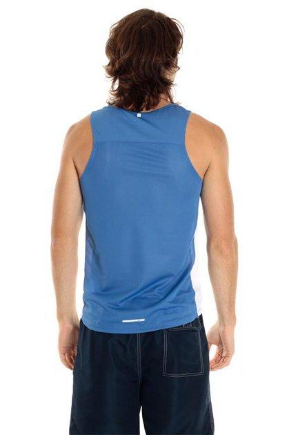 Майка л/а Nike Miler Singlet сине-белая - 3