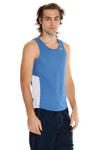 Майка л/а Nike Miler Singlet сине-белая - 4