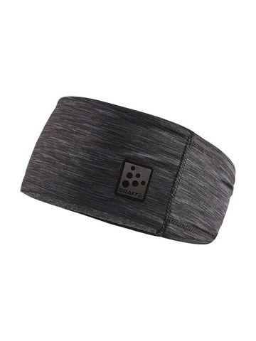 Craft Microfleece Shaped повязка черный меланж