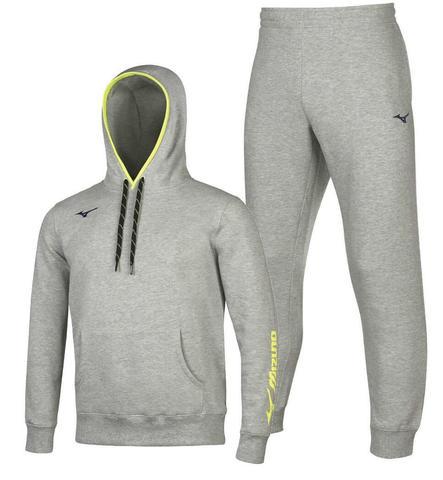 Mizuno Sweat спортивный костюм мужской с капюшоном grey