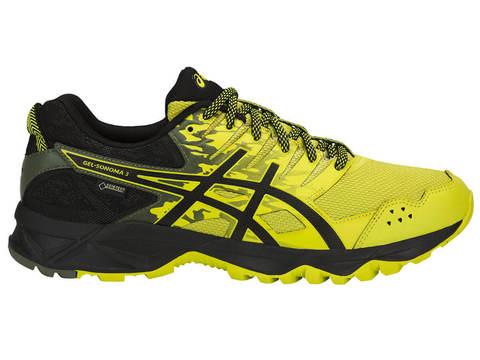 Беговые кроссовки мужские Asics Gel Sonoma 3 GoreTex черные-желтые