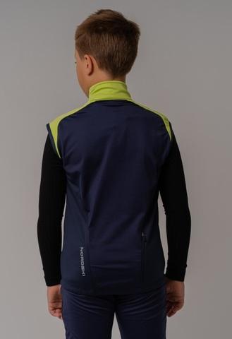 Nordski Jr Premium детский лыжный жилет green-blueberry