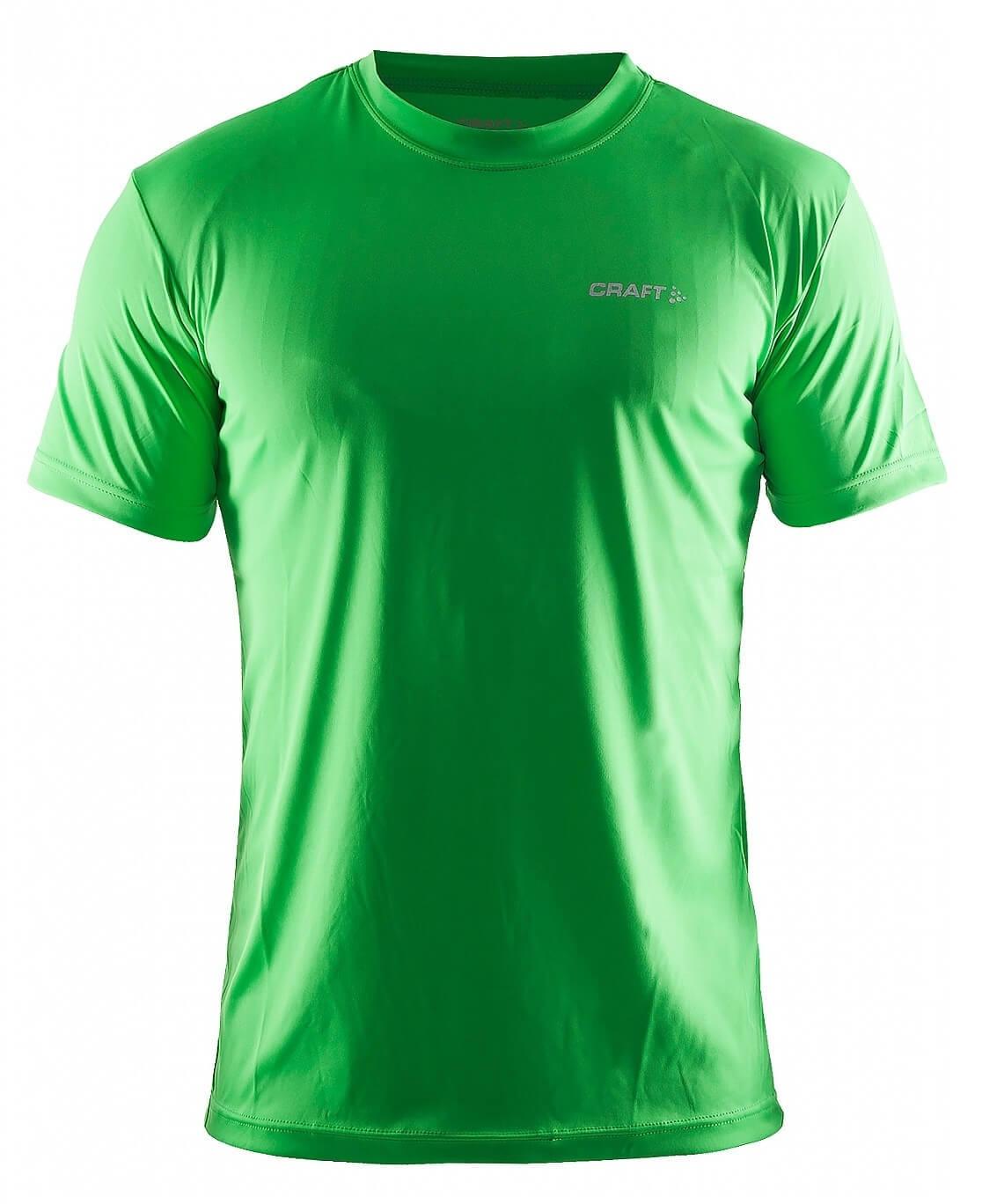Мужская спортивная футболка Craft Active (199205-1606) зеленая   Five-sport.ru
