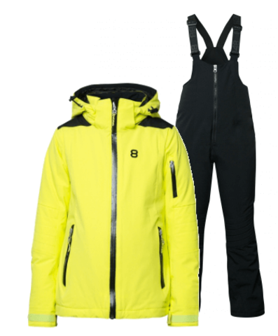 8848 Altitude Adrienne Chella горнолыжный костюм детский lime-black