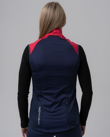 Nordski Premium лыжный жилет женский pink-blueberry