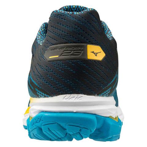 Mizuno Wave Rider 23 беговые кроссовки мужские синие-желтые (Распродажа)