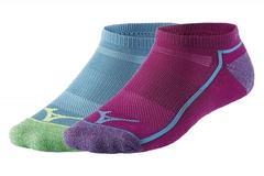Комплект носков Mizuno Active Training Mid 2 P фиолетовые-голубые