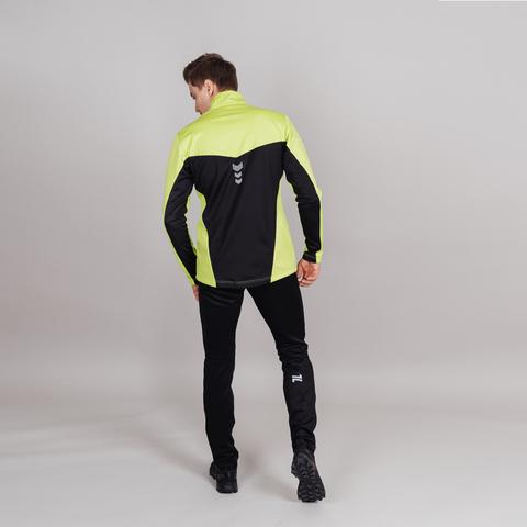 Nordski Base тренировочная куртка мужская lime-black