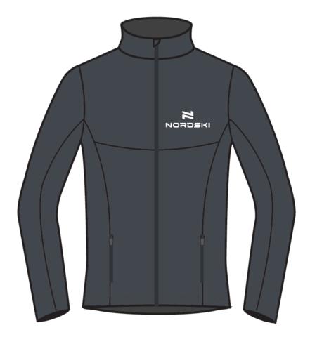 Nordski Motion мужская разминочная куртка graphite
