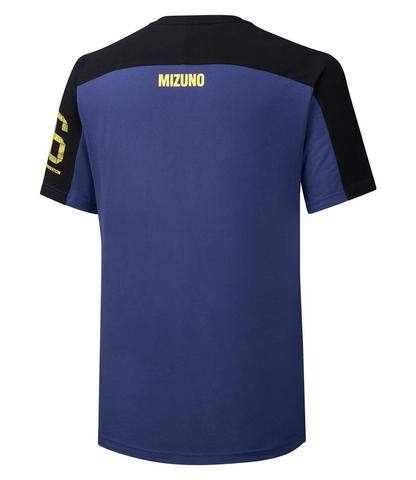 Mizuno Heritage Tee 1 футболка для бега мужская синяя