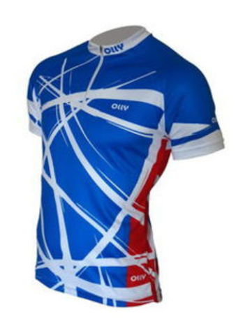 Olly Bright Sport Russia футболка беговая синяя
