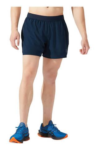 """Asics Road 5"""" Short шорты для бега мужские темно-синие"""
