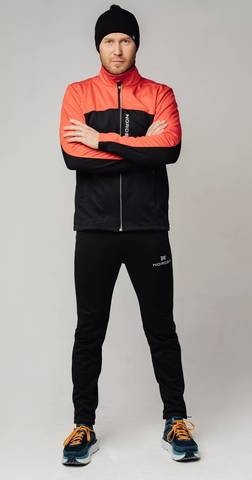 Nordski Jr Active Base детский беговой костюм red-black