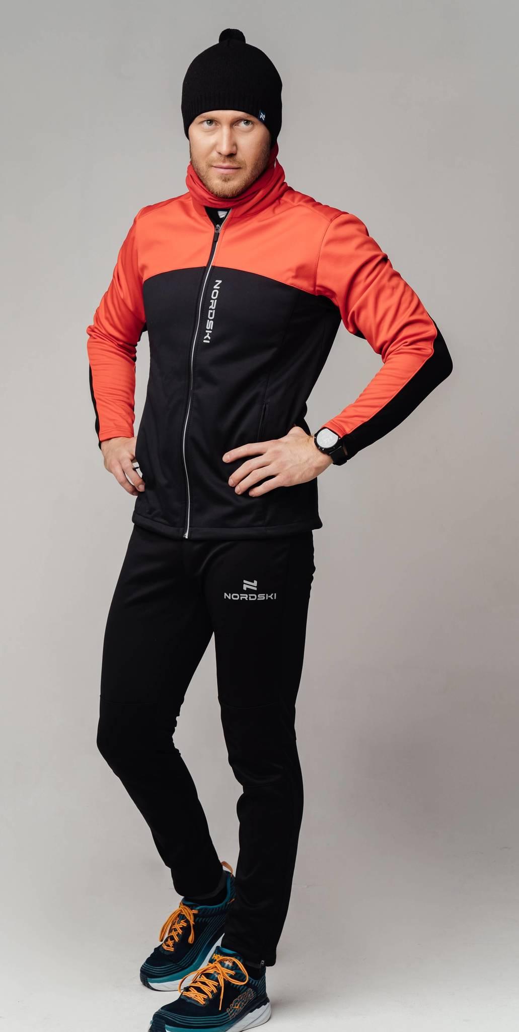 Nordski Jr Active Base детский беговой костюм red-black - 2