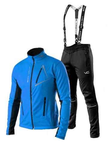 Victory Code Jr Dynamic детский разминочный лыжный костюм с лямками blue