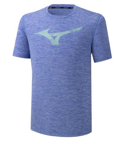 Mizuno Core Rb Graphic Tee беговая футболка мужская синяя