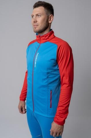 Nordski Premium лыжная куртка мужская синяя-красная