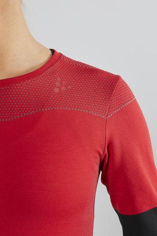 Craft Fuseknit Comfort Blocked женская терморубашка red