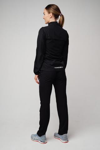 Nordski Motion костюм для бега женский Black-Light Blue