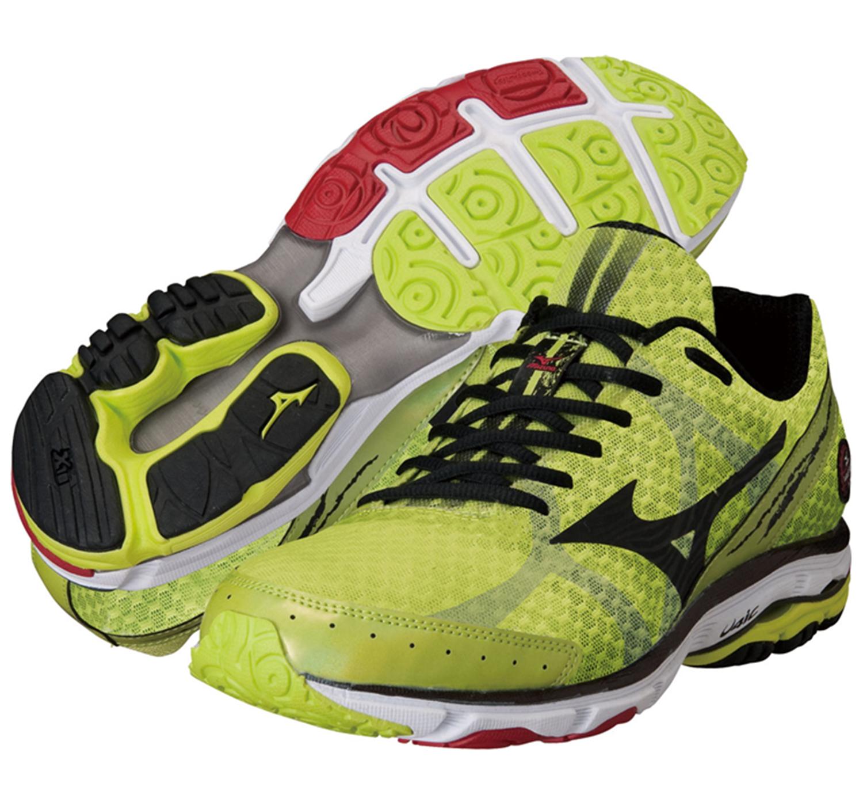 Mizuno Wave Rider 17 кроссовки для бега мужские желтые - 3