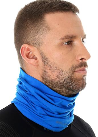 Многофункциональный баф Brubeck с шерстью синий
