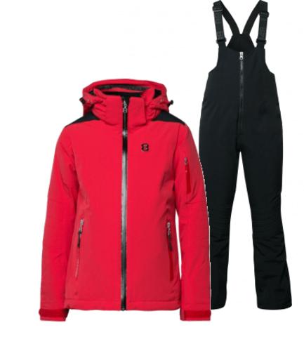 8848 Altitude Adrienne Chella горнолыжный костюм детский red-black