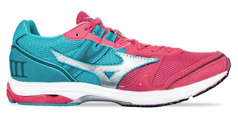 Mizuno Wave Emperor 3 кроссовки для бега женские коралловые-голубые