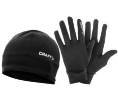 Комплект шапка +перчатки Craft Run Winter Thermal
