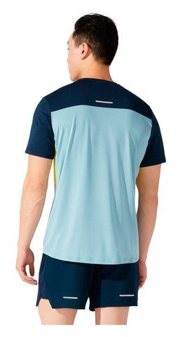 Asics Race Ss Top футболка для бега мужская синяя