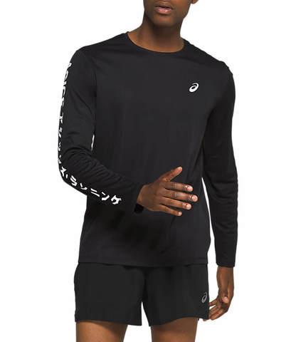 Asics Katakana Ls футболка с длинным рукавом мужская черная