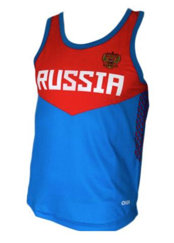 Olly Russia майка синяя-красная