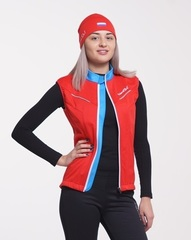 Nordski National женский лыжный жилет красный