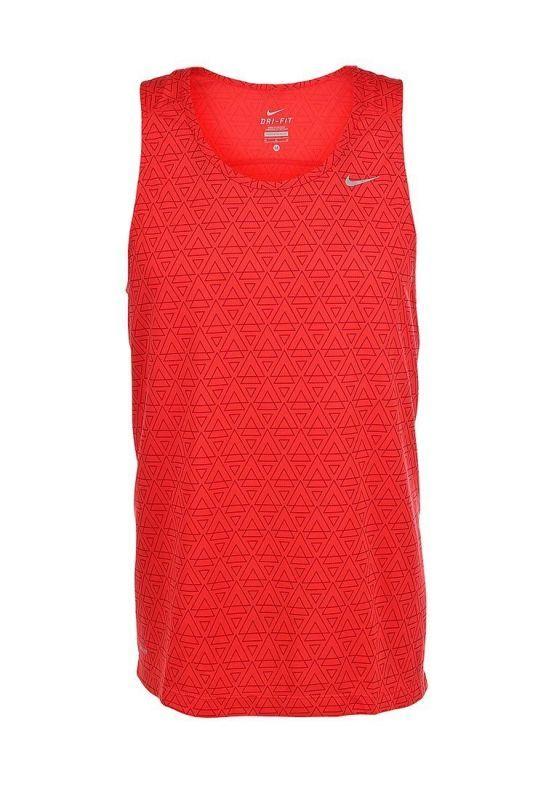 Майка л/а Nike Printed Miler Singlet красная - 4