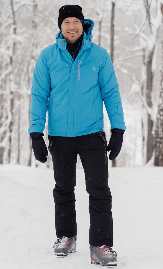 Nordski Mount теплый лыжный костюм мужской синий - 2