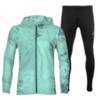 Asics Packable Silver костюм для бега мужской бирюзовый-черный - 1