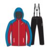 Nordski National утепленный лыжный костюм мужской Red-Black - 2