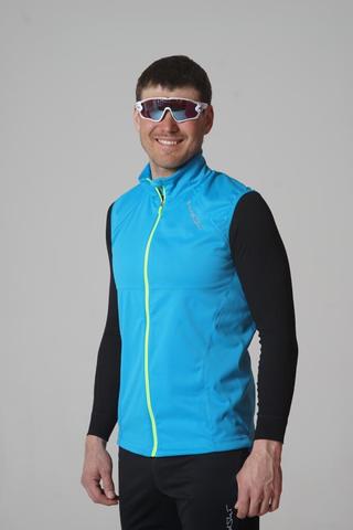 Nordski Elite мужской лыжный жилет blue