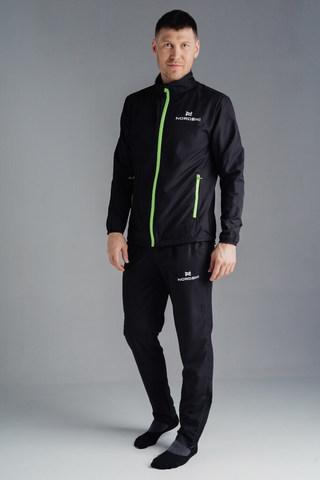 Nordski Motion костюм для бега мужской Black/Yellow