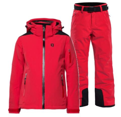 8848 Altitude Adrienne Grace горнолыжный костюм детский red