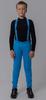 Nordski Jr Premium разминочные лыжные брюки детские синие - 1