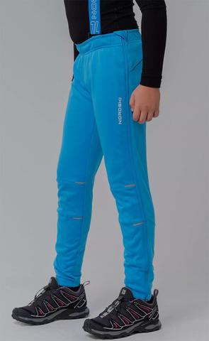 Nordski Jr Premium разминочные лыжные брюки детские синие