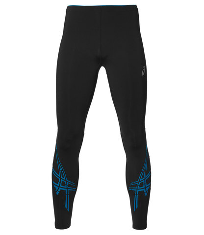 Тайтсы мужские Asics Stripe черные-синие