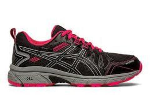Asics Gel-Venture 7 Gs Wp кроссовки беговые детские черные-розовые